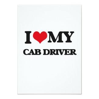 Amo mi conductor de taxi invitación 12,7 x 17,8 cm