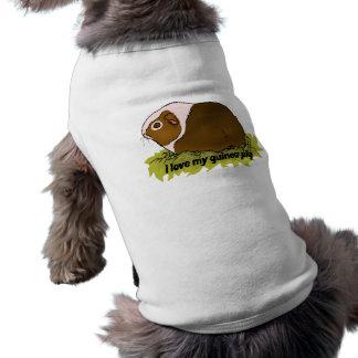 Amo mi conejillo de Indias Camiseta Sin Mangas Para Perro
