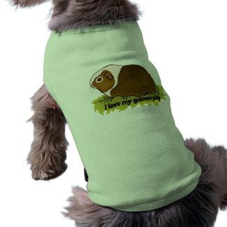 Amo mi conejillo de Indias Camiseta De Perrito