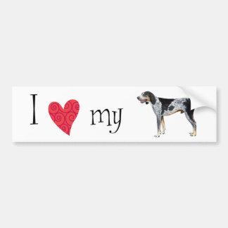 Amo mi Coonhound de Bluetick Pegatina De Parachoque