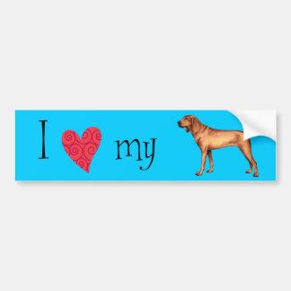 Amo mi Coonhound de Redbone Etiqueta De Parachoque