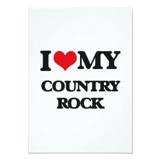 Amo mi COUNTRY ROCK Invitación 12,7 X 17,8 Cm