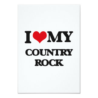 Amo mi COUNTRY ROCK Invitación 8,9 X 12,7 Cm