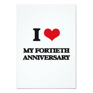 Amo mi cuadragésimo aniversario invitación personalizada