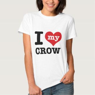 Amo mi cuervo camiseta