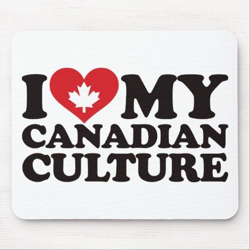 Amo mi cultura canadiense alfombrilla de ratón