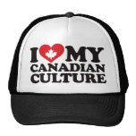 Amo mi cultura canadiense gorro de camionero