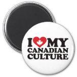 Amo mi cultura canadiense imanes