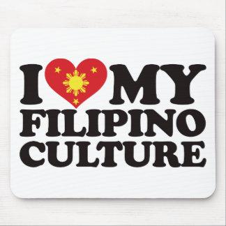 Amo mi cultura filipina alfombrilla de ratón