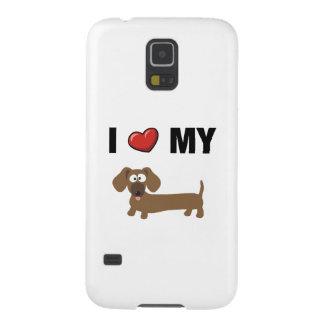 Amo mi dachshund carcasa galaxy s5