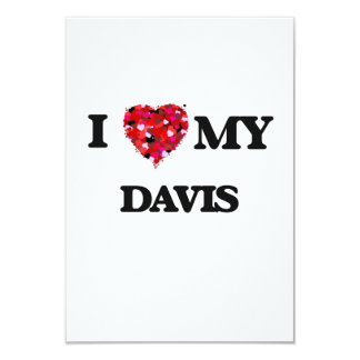Amo mi Davis Invitación 8,9 X 12,7 Cm