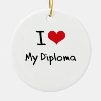 Amo mi diploma adorno para reyes