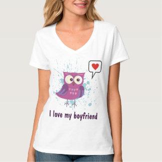 Amo mi doblete del novio camisetas