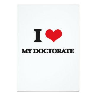 Amo mi doctorado invitación 12,7 x 17,8 cm
