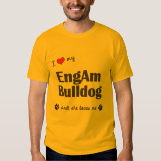 Amo mi dogo de EngAm (el perro femenino) Camisetas