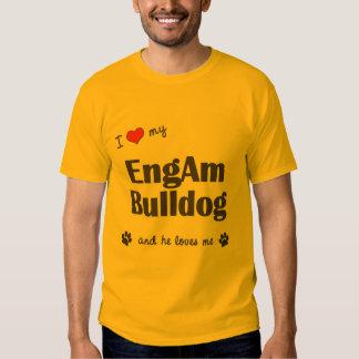 Amo mi dogo de EngAm (el perro masculino) Camisas