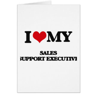Amo mi ejecutivo de la ayuda de las ventas tarjeta de felicitación
