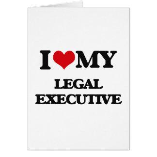 Amo mi ejecutivo legal tarjeta de felicitación