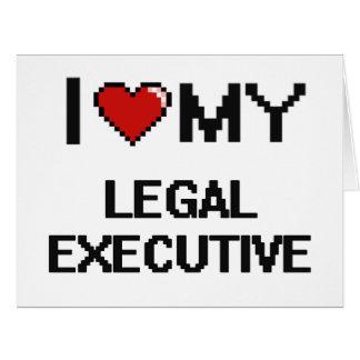 Amo mi ejecutivo legal tarjeta de felicitación grande