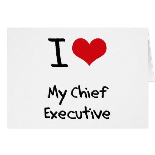 Amo mi ejecutivo tarjetón