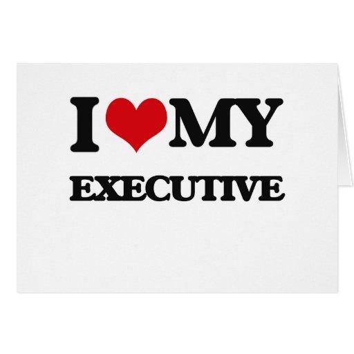 Amo mi ejecutivo felicitación