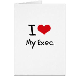 Amo mi ejecutivo tarjetas