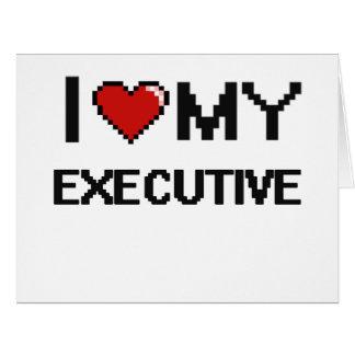 Amo mi ejecutivo tarjeta de felicitación grande
