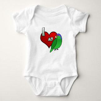 Amo mi enredadera coronada lila del bebé del camisas