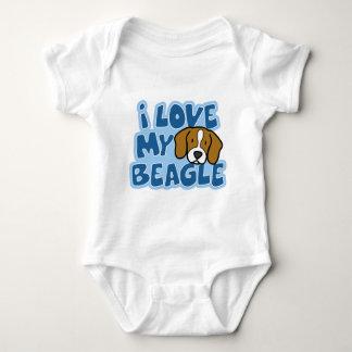 Amo mi enredadera del bebé del beagle body para bebé