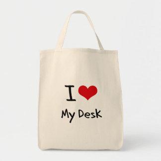 Amo mi escritorio bolsa de mano