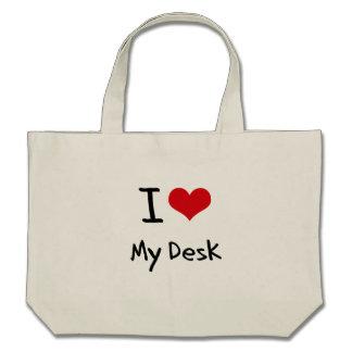 Amo mi escritorio bolsas de mano