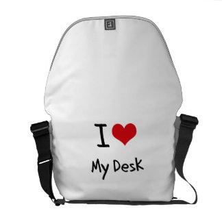 Amo mi escritorio bolsas de mensajería