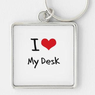 Amo mi escritorio llavero personalizado