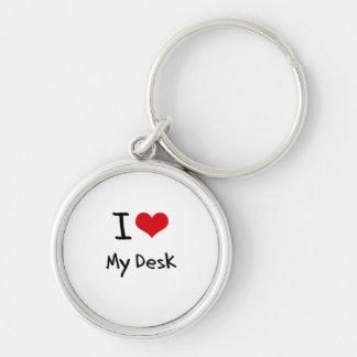 Amo mi escritorio llaveros