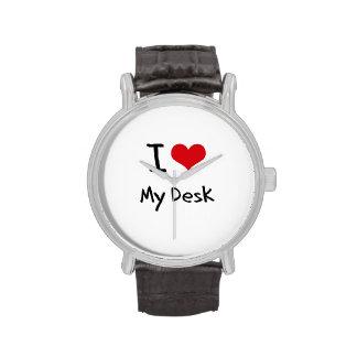 Amo mi escritorio relojes de mano