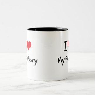Amo mi fábrica taza