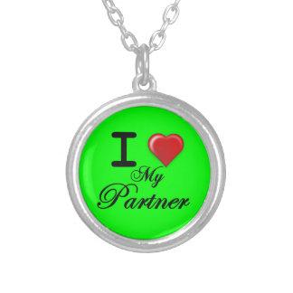 Amo mi fondo del verde del regalo del collar del s