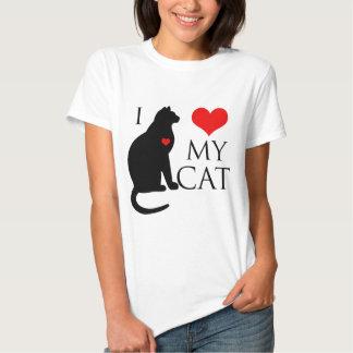 Amo mi gato camiseta