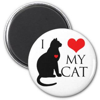 Amo mi gato imán redondo 5 cm