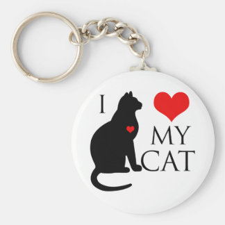 Amo mi gato llavero redondo tipo chapa