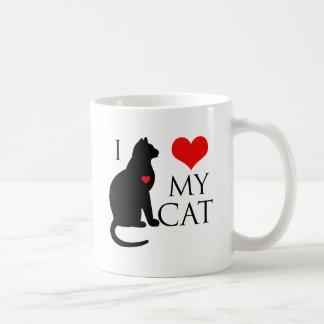 Amo mi gato taza clásica