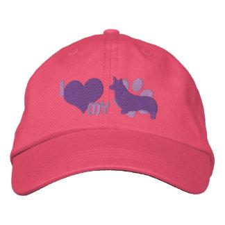 Amo mi gorra bordado Corgi Galés del Pembroke