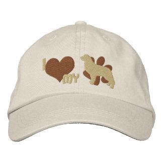 Amo mi gorra bordado del perro de montaña de Berne Gorra De Beisbol