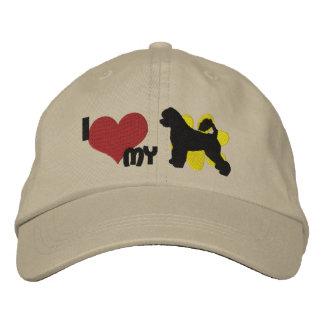Amo mi gorra bordado portugués del perro de agua gorra bordada