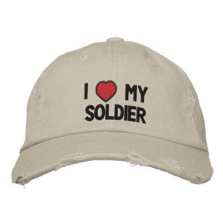 Amo mi gorra bordado soldado gorro bordado