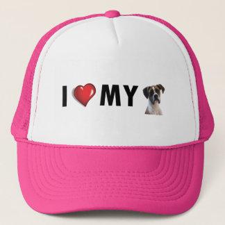 Amo mi gorra del boxeador - gorra del perro del