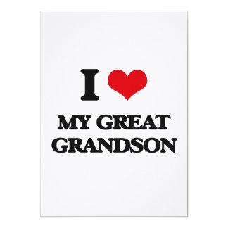 Amo mi grande - nieto invitación 12,7 x 17,8 cm