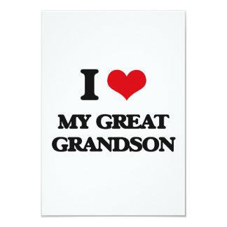 Amo mi grande - nieto invitación 8,9 x 12,7 cm