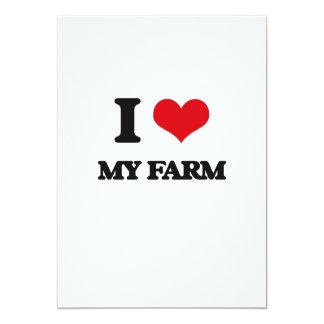 Amo mi granja invitación 12,7 x 17,8 cm