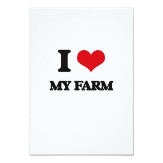 Amo mi granja invitación 8,9 x 12,7 cm